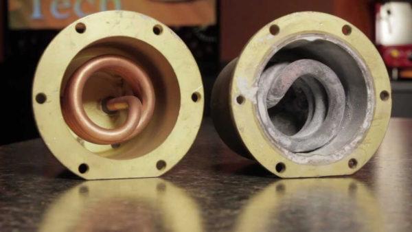 Kavos aparatų remontas - boilerio valymas nuo kalkių.