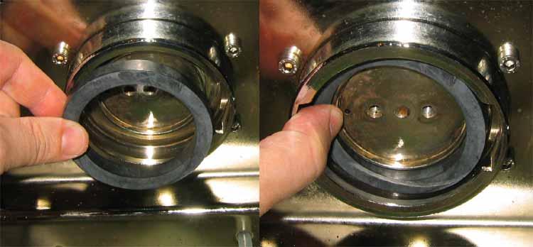 Kavos aparatų remontas - susidėvėjusios tarpinės keitimas nauja